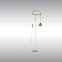 lighting | floor lamp | 'Lift' Hohe Stehlampe, Woka | brass
