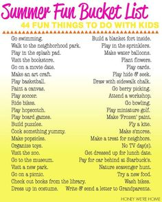 Image result for bucket list ideas for kids