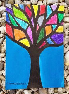 Juf Jaydee: Een boom vol kleurtjes - wasco en ecoline Juf Jaydee: Een boom vol kleurtjes - wasco en ecoline Autumn Crafts, Fall Crafts For Kids, Autumn Art, Art For Kids, Fall Art Projects, School Art Projects, Kindergarten Art, Preschool Art, Art Lessons Elementary