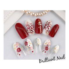 Deep und Glitter Nail Designs und Nail Arts verpassen Sie nicht in 2020 Butterfly Nail Art, Rose Nail Art, Flower Nail Art, Nail Art Designs Images, Simple Nail Art Designs, New Years Nail Art, New Nail Art, New Year's Nails, Red Nails