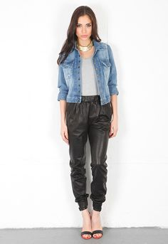 J Brand Ready-To-Wear Blair Leather Pant in Black | SINGER22.com