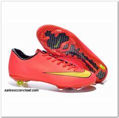 e1e4e5fdad07 Nike Cr Mercurial Vapor X 2014 FG Ronaldo Pink $61.00 Black Football Boots, Football  Shoes