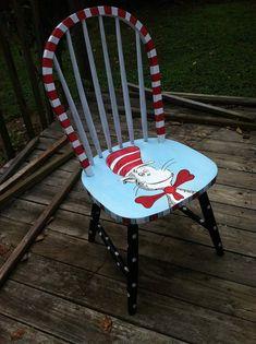 Cat In The Hat Teacher's Chair by WeAreButterflyKisses on Etsy