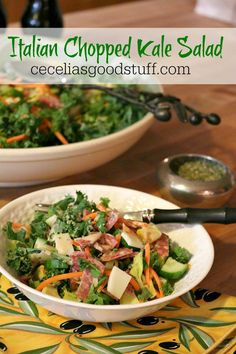 Italian Chopped Kale Salad