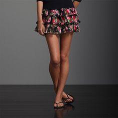 Abercrombie Fitch Women Floral Mini Short Skirt | eBay