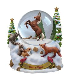 Breyers 2011 Holiday Ornaments - Snow Globe Featuring Horses and Friends