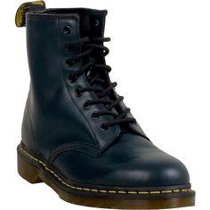 Dr. Martens 1460 Unisex  Boot ($135) ❤ liked on Polyvore featuring shoes, boots, navy, navy blue boots, army boots, combat boots, lace up combat boots and laced up boots