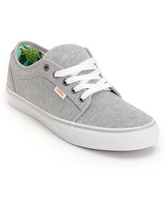 88ad2fba700 Vans Chukka Low Grey Jersey   Hawaii Mint Skate Shoes