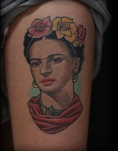 Bold colors by Stevan Marroquin. #inked #tattoo #idea #art #creative #Frida #Kahlo