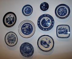 KK A few more Blue & white plates