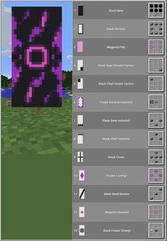 Minecraft Room, Minecraft Plans, Minecraft Tutorial, Minecraft Blueprints, Minecraft Creations, Minecraft Crafts, Minecraft Banner Crafting, Minecraft Stuff, Cool Banner Designs Minecraft