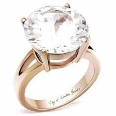 Go Big Or Go Home for this perfect 7CT 14K Gold Round Cut Solitaire Russian Lab Diamond Ring Gift Box & Free Shipping USA Russian lab diamonds are grown by