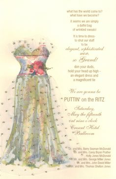 Party Dress Bridal Invitation #Bridal #Shower