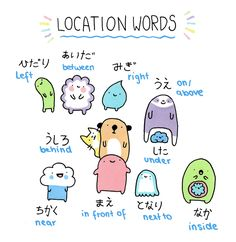 master3languages: Japanese Location WordsP.S. Check out these useful resources! • Click here to learn Japanese phrases! • Are we not friends on Facebook yet? Click here for more updates! • Follow...
