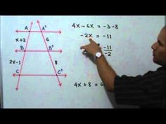 Aplicación del Teorema de Thales: Julio Rios explica la solución de un ejercicio de Geometría, donde se aplica el Teorema de Thales.