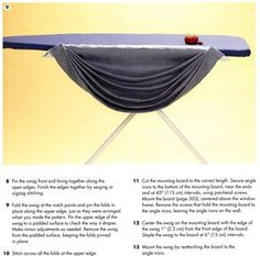 How to use an ironing board to adjust drape from the book The Complete Photo Guide to Window Treatments, 2nd Edition #windowtreatments #drapes