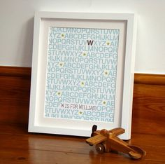 'A Z' Personalised New Baby Name Print