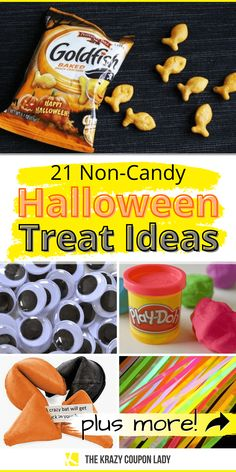 Want to offer a toy to trick-or-treaters suffering from food allergies or just give out something besides candy but want cheap options? These cheap non-candy treats are sure to please everyone. If you're worried about cost, our list of non-candy items for trick or treat fall around the same price range as the cheapest multi-pack Halloween candy we can find at Walmart. (Don't forget to stick a teal pumpkin in your yard to signify your house is allergy-safe as part of the Teal Pumpkin Project!) Halloween Goodie Bags, Goodie Bags For Kids, Halloween Treats For Kids, Halloween Favors, Halloween Goodies, Halloween Trick Or Treat, Family Halloween, Halloween Crafts, Holiday Crafts