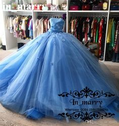 Royal Blue Cinderella Pageant Prom Gowns 2017 Ball Gown Strapless 3D Floral Plus Size Arabic Girls Quinceanera Formal Dresses Evening Wear Ball Gown Prom Dresses Pageant Prom Gowns 2017 Prom Dresses Online with $312.5/Piece on In_marry's Store | DHgate.com