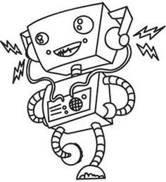 kleurplaten robot en monster