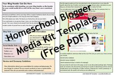 Create a Media Kit for Your Homeschool Blog -- The Why and How