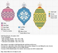 Free Trio of Ornaments