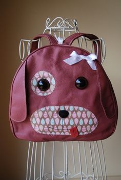 Handmade Leather Girl Dog Toddler Backpack by SchnookieDesigns, $35.00