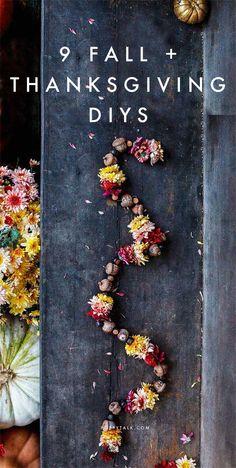9 Fall + Thanksgiving DIYs | Poppytalk