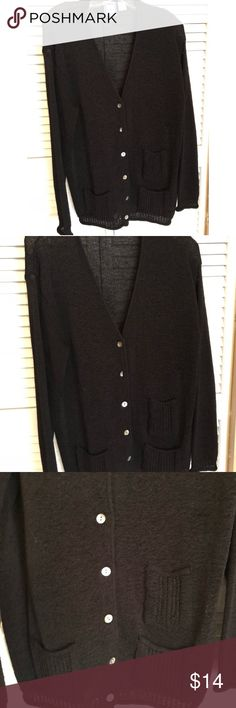 New Listing ❤️ Black Button Down Sweater XL BLACK BUTTON DOWN SWEATER  Pre-Loved  ❤️ Bundle and Save  ❤️ Reasonable Offers Welcomed Sweaters