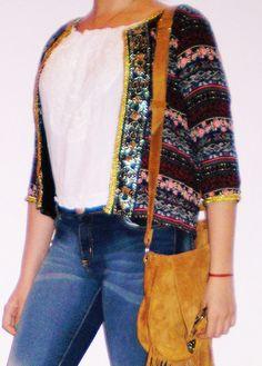 Chaqueta Saco Tipo Hindu Blazer Casaca Hippie Chic - $ 640,00 en MercadoLibre
