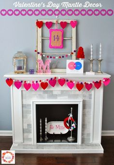A Glimpse Inside: My Valentine's Day Mantle