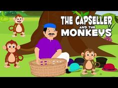 English Stories For Kids | The Cap Seller And The Monkeys | English Story Telling For Babies - YouTube English Story Telling, English Stories For Kids, Abc Songs, Rhymes For Kids, Moral Stories, Presents For Kids, Baby Music, Home Learning, Working With Children