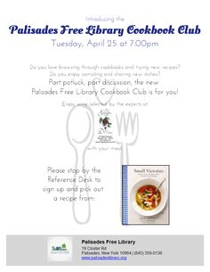 Cookbook Club: Small Victories - Tuesday, April 25, 7:00 pm