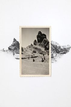 Drawing with Vintage Photo - Desert Landscape