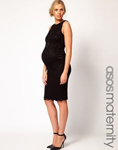 ASOS Maternity Midi Dress In Lace - if I can look this good when I'm pregnant I'll be doing fine :-)