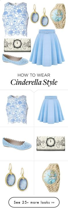 Disneybound: Cinderella by swagshark on Polyvore featuring Armenta, True Decadence, Disney and Machi