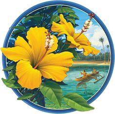 Yellow Hibiscus - Hawaii Decal
