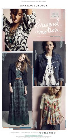 Anthropologie email 2014