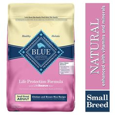 Buy Blue Buffalo Life Protection Formula Small Breed Dog Food – Natural Dry Dog Food for Adult Dogs – Chicken and Brown Rice – 15 lb. Large Breed Dog Food, Large Dog Breeds, Small Breed, Small Dogs, Blue Dog Food, Chicken And Brown Rice, Grain Free Dog Food, Dog Food Brands, Natural Dog Food