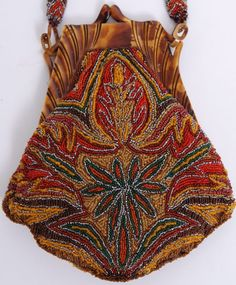 1920's Celluloid and Seed Bead purse U.S.A.