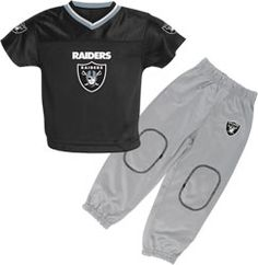 Oakland Raiders Toddler Football Jersey and Pant Set