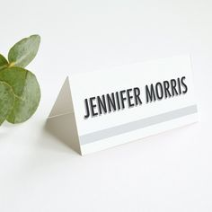 Personalised Wedding Place Card | Banner