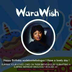 Happy Birthday to the lovely @adebankebalogun from @ashiwaju !! Have a fabulous year !