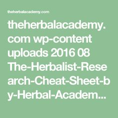 theherbalacademy.com wp-content uploads 2016 08 The-Herbalist-Research-Cheat-Sheet-by-Herbal-Academy.pdf