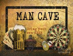 Man Cave-bring Your Own Beer Digital Art by Jean Plout