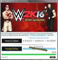 WWE 2K16 Free Activation Key Code