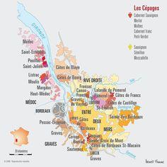 Map of Bordeaux