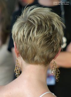 back view of short haircut