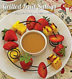 Grilled Fruit Satays with Pineapple-Coconut Peanut Sauce from Nut Butter Universe by Robin Robertson