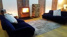 Hagley stoves have fitted this lovely Stuv 16 UP woodburner, hearth and flue